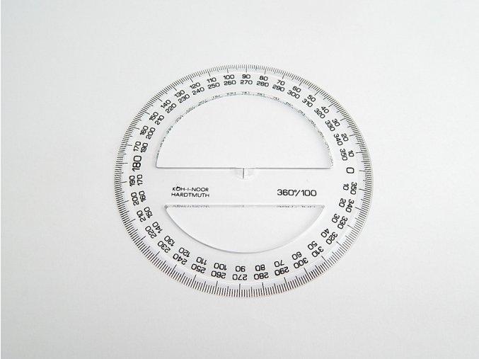 Úhloměr 360/100 čirý