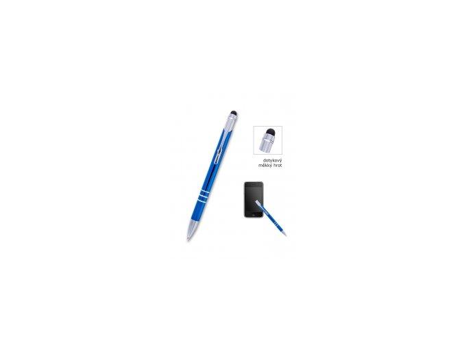 Kuličkové pero CONCORDE Soft modré, dotykové, bez potisku