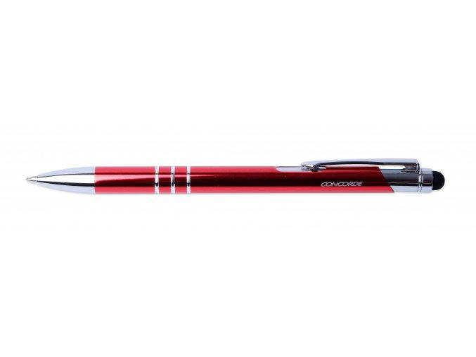 Kuličkové pero CONCORDE Soft, dotykové červené