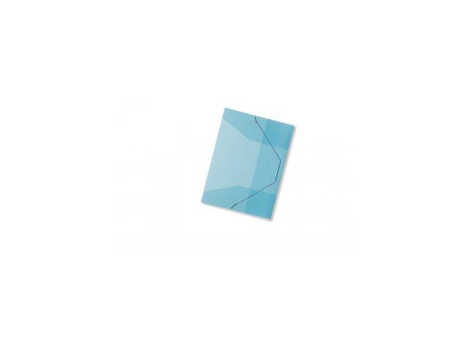 Spisové desky CONCORDE A4 s gumou, transparentní modrá