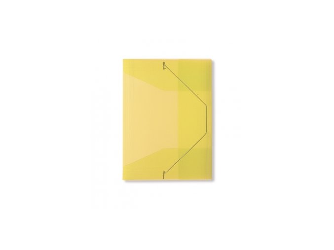 Spisové desky CONCORDE s gumou A4, transparentní žlutá