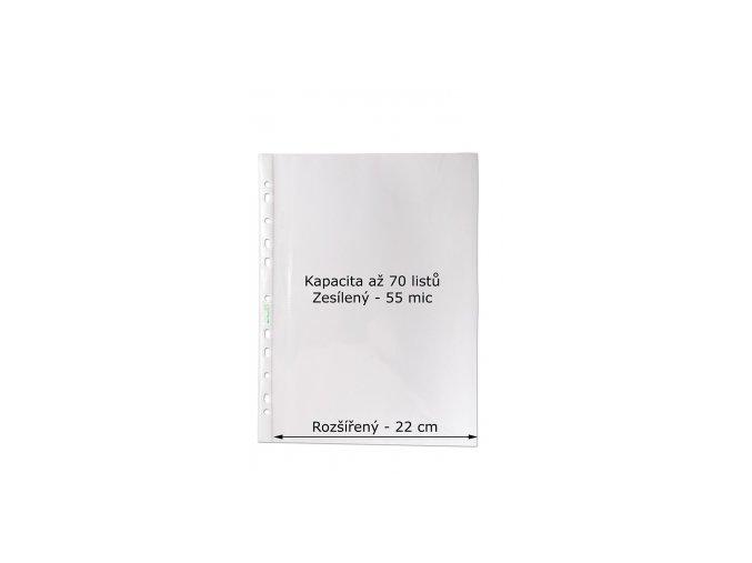 Rozšířený prospektový obal A4 CONCORDE hladký, tvar U, 100ks