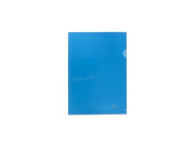 Zakládací obal A4, 180mi, tvar L, modrá, 10ks