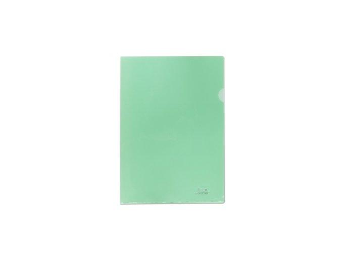 Zakládací obal A4, 180mi, tvar L, zelená, 10ks