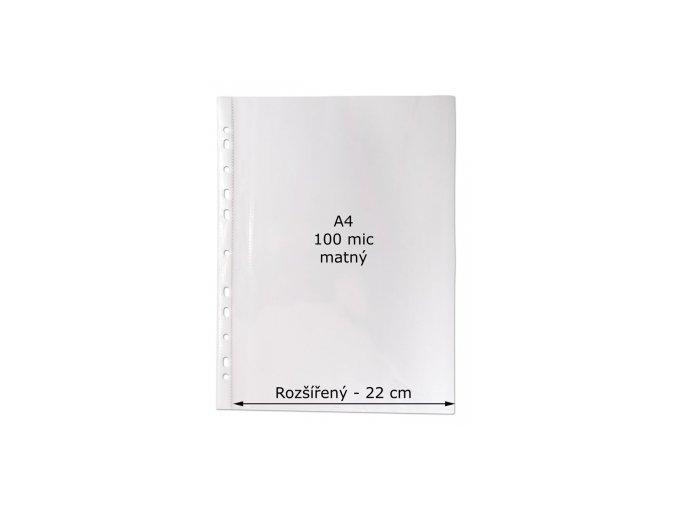 Rozšířený prospektový obal A4 CONCORDE, matná krupice, tvar U, 50ks