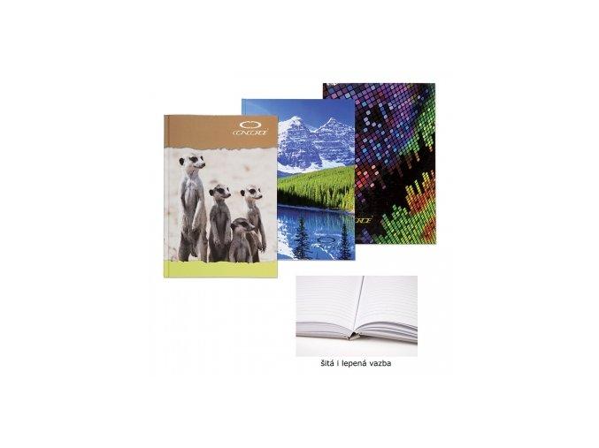 Záznamní kniha CONCORDE A4 linka, 192 listů