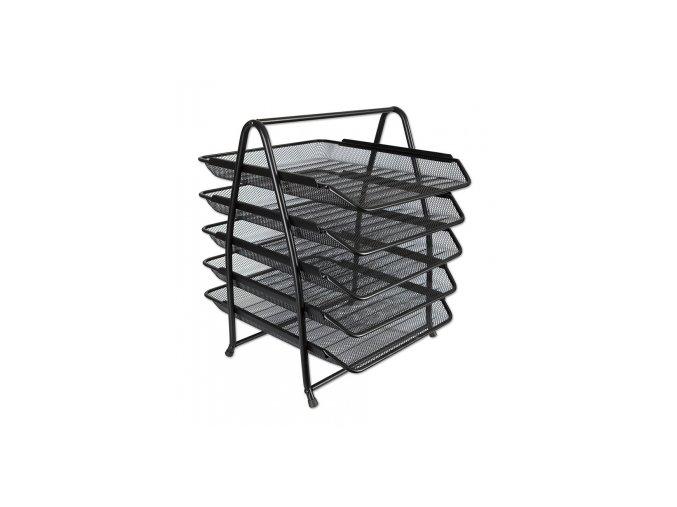 Kovový pětibox CONCORDE, černá