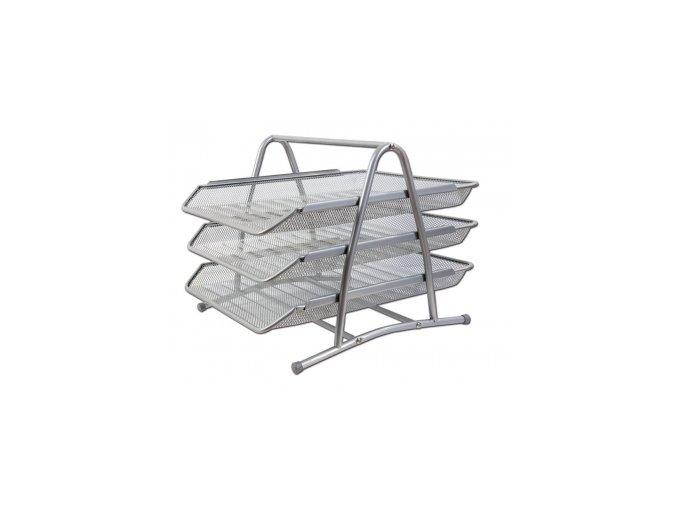 Kovový trojbox CONCORDE, stříbrný
