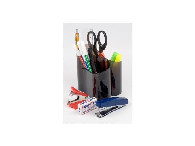 Stojánek na tužky ICO Lux, transparentní černá