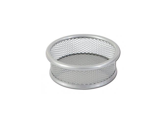 Kovový kalíšek na sponky CONCORDE, stříbrný
