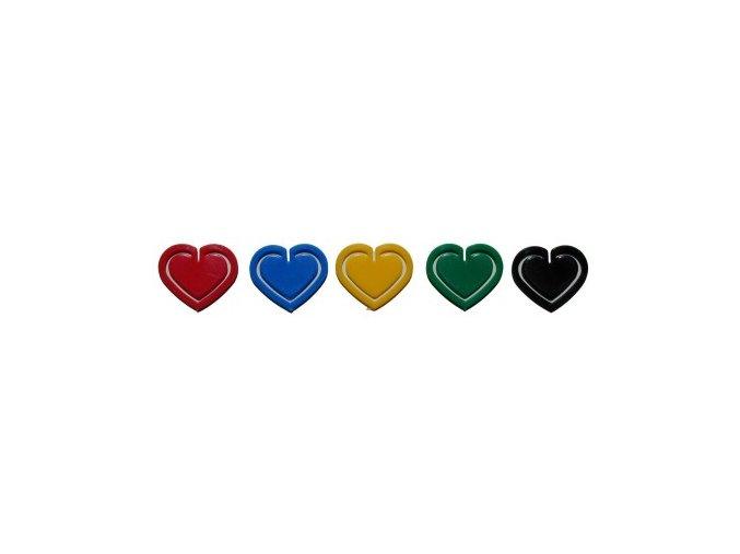 Dopisová spona RON 651 plastová srdce, 30 mm 10 ks
