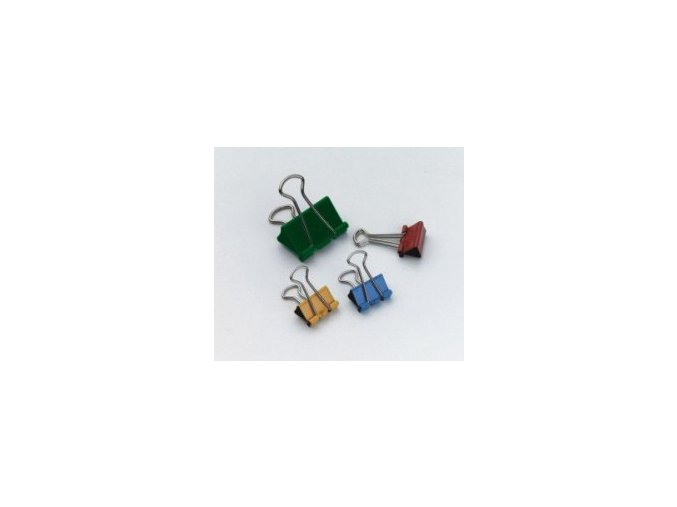 Binder klip RON 421/15 barevný, 12 ks