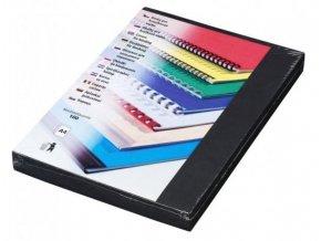 Desky pro kroužkovou vazbu Linen A4 černé