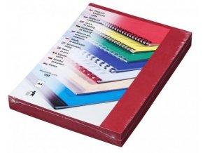 Desky Linen A4 tmavě červené