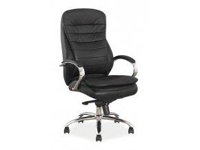 Kancelářské křeslo Q154, černá PU