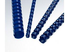 Plastové hřbety 38 modré