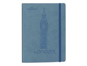 Zápisník CONCORDE Londýn, A5 linka, 80 listů