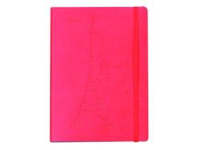 Zápisník CONCORDE Paříž, A5 linka, 80 listů