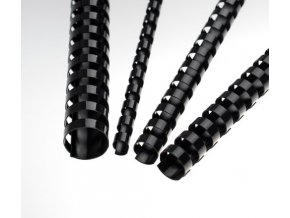 Plastové hřbety 10 černé
