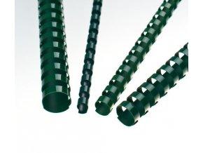 Plastové hřbety 19 zelené