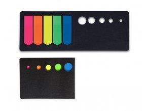 Samolepicí záložky CONCORDE - šipky - neon - 13x45mm, 5x20 listů