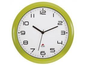 hodiny nastenne hornew svetle zelena 3138