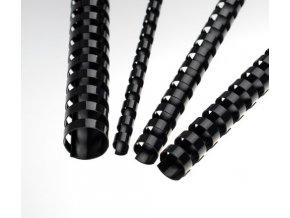 Plastové pl. hřbety 6 černé 100ks