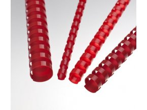 Plastové pl. hřbety 6 červené 100ks
