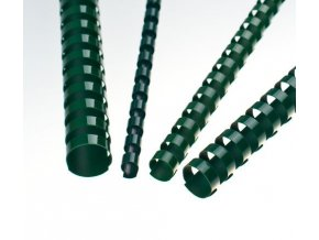 Plastové pl. hřbety 6 zelené 100ks