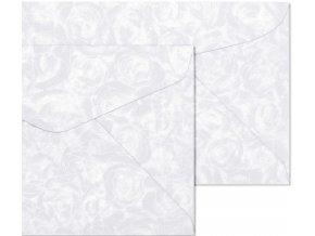 obálky B7 Růže bílá 120g, 10ks