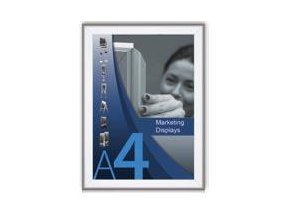 Kliprám A4 hliníkový - ostré rohy 25mm