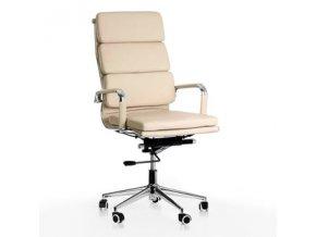 Kancelářská židle ADK Soft, krémová