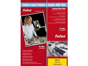 Folex BG-72 WO - bílá lesklá fólie A4