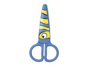 Dětské nůžky KEYROAD Zvířátka, plastové modré