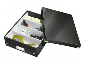 organizacni krabice click n store cerna a4 4325