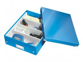 organizacni krabice click n store modra a4 4329