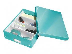 organizacni krabice click n store tyrkysova a4 4327