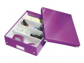 organizacni krabice click n store fialova a4 4333