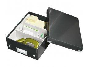 organizacni krabice click n store cerna a5 4341