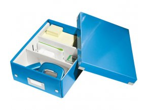 organizacni krabice click n store modra a5 4345