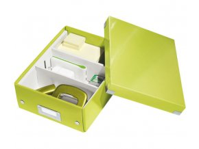organizacni krabice click n store zelena a5 4353