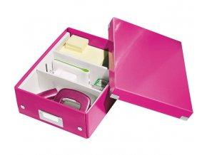 organizacni krabice click n store ruzova a5 4351