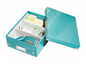 organizacni krabice click n store tyrkysova a5 4343