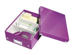 organizacni krabice click n store fialova a5 4349