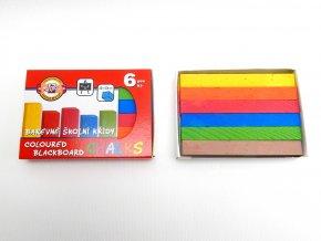 Křídy školní 112505 barevné, 6 ks