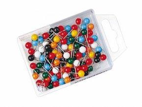 Špendlíky na tabule a nástěnky 100ks - kulička