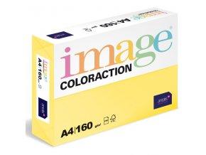barevny papir image coloraction a4 160g pastelove zluta 250 ks 5897