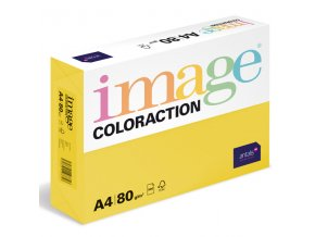 barevny papir image coloraction a4 80g intenzivni syta zluta 500 ks 948