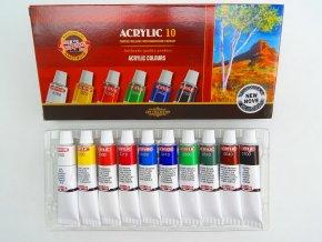 Sada akrylových barev 162703, 10x16 ml