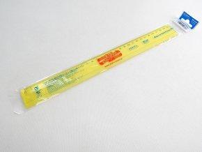 Pravítko 30 cm žluté